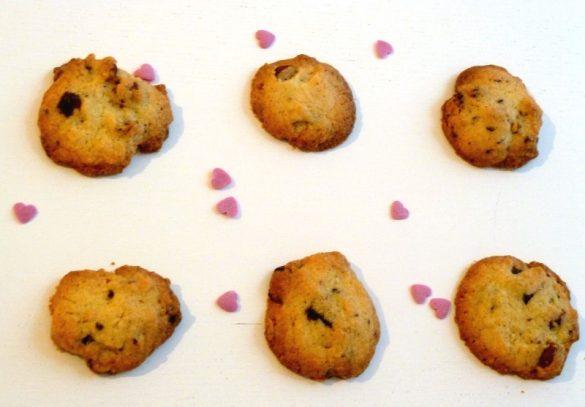 Cookies croquants aux pépites de chocolat