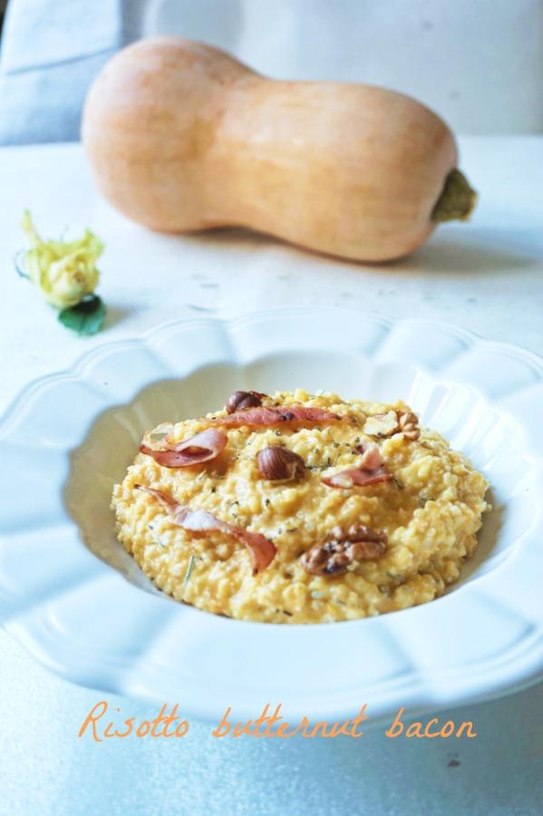 Risotto à la butternut et bacon - Rappelle toi des mets