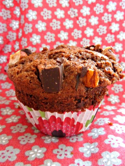 Merveilleux muffins chocolat-noisettes