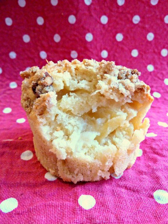 Muffins aux pommes et crumble aux noix