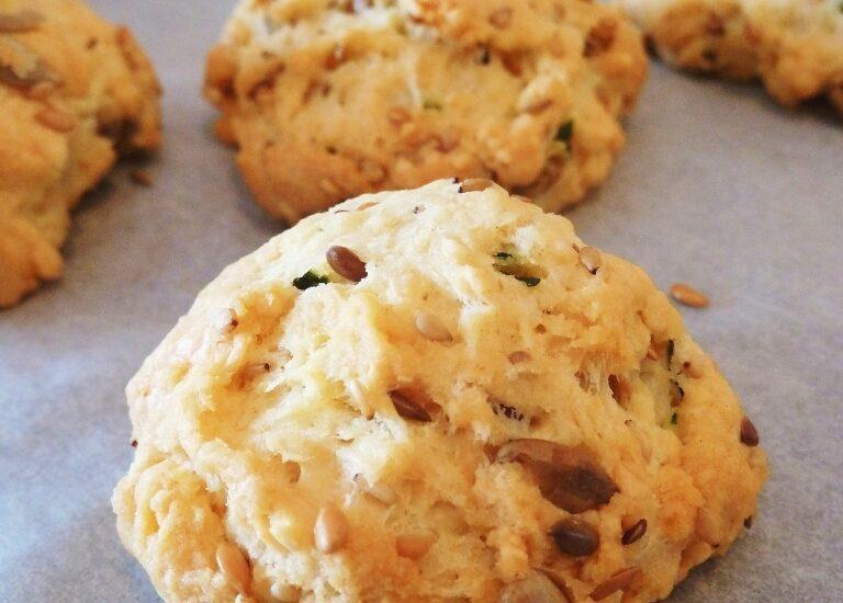 Cookies salés gruyères et pignons