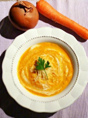 Velouté poireaux carottes