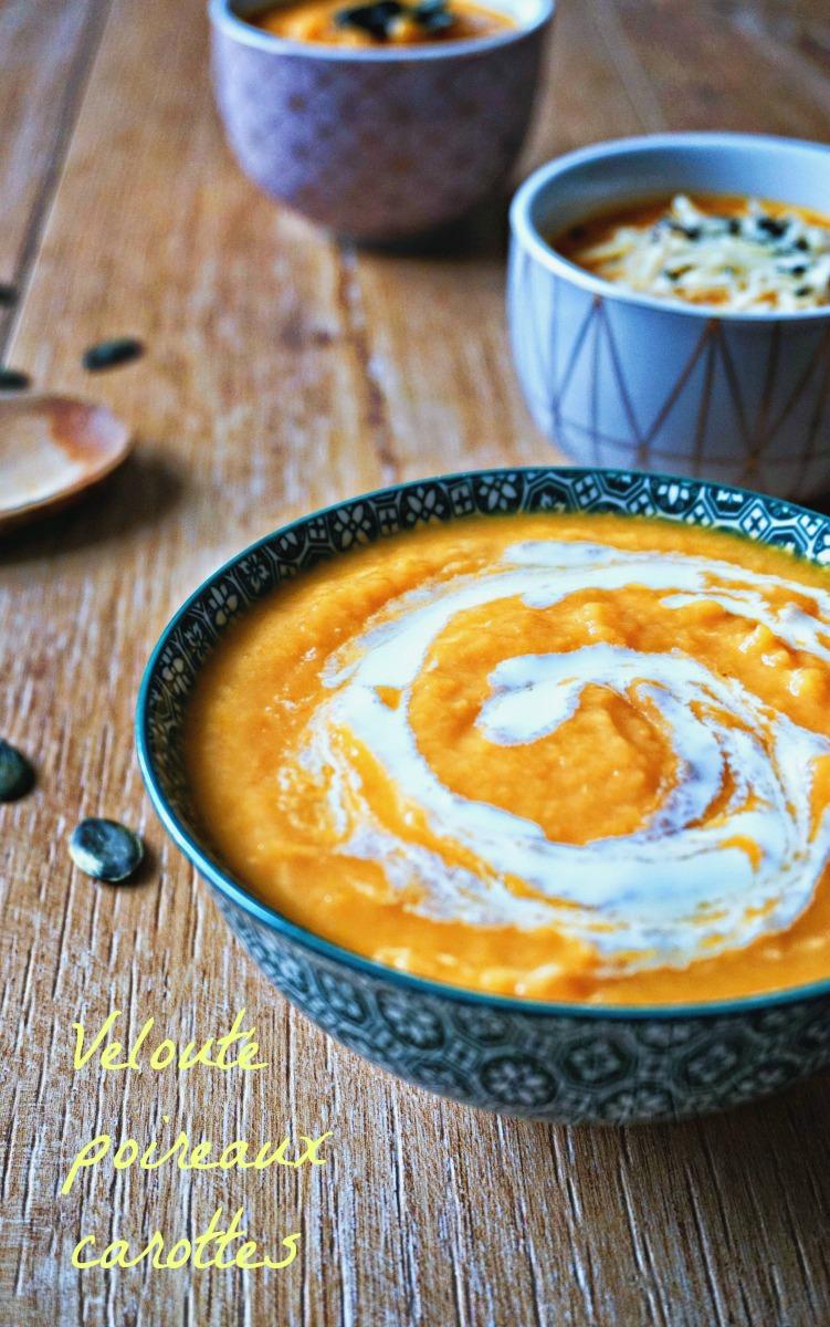 Velouté poireaux carottes - Rappelle toi des mets