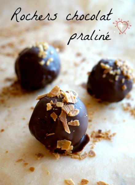 Rochers chocolat praliné