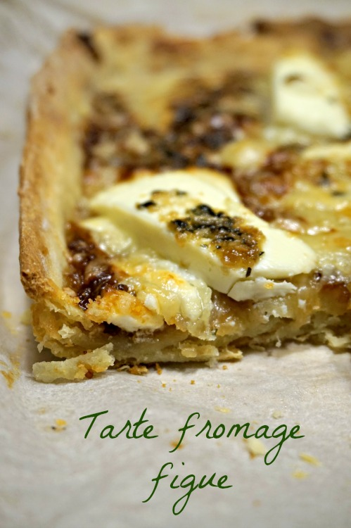 Tarte fromage figue