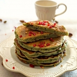 Pancakes pistache framboise