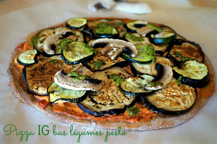 Pizza aux légumes IG bas