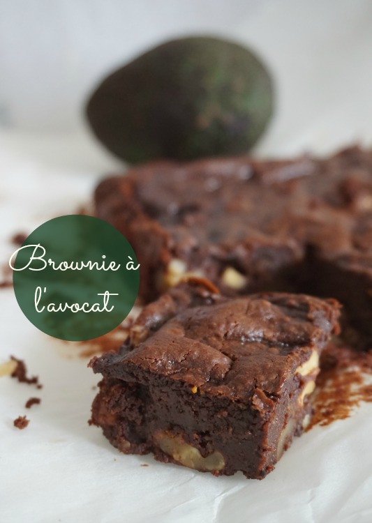 Brownie à l'avocat