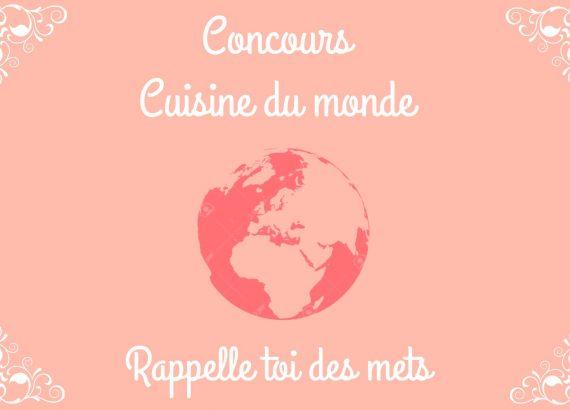 concours cuisine du monde