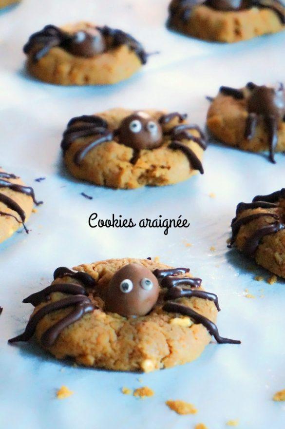 Cookies araignée au beurre de cacahuètes