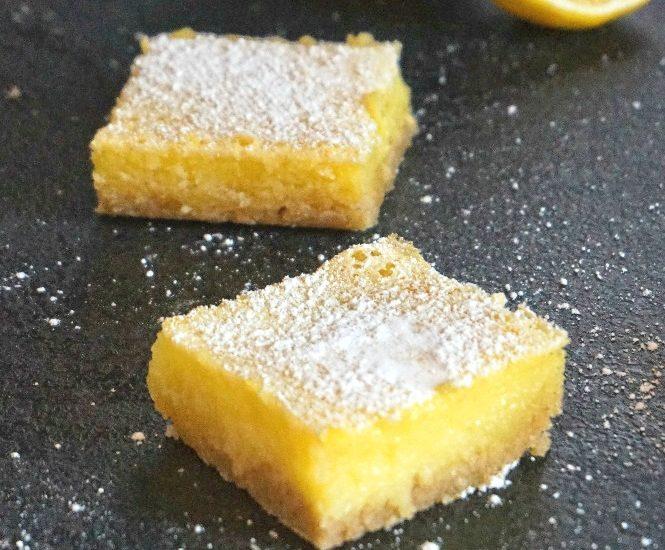 Lemon bars - Rappelle toi des mets