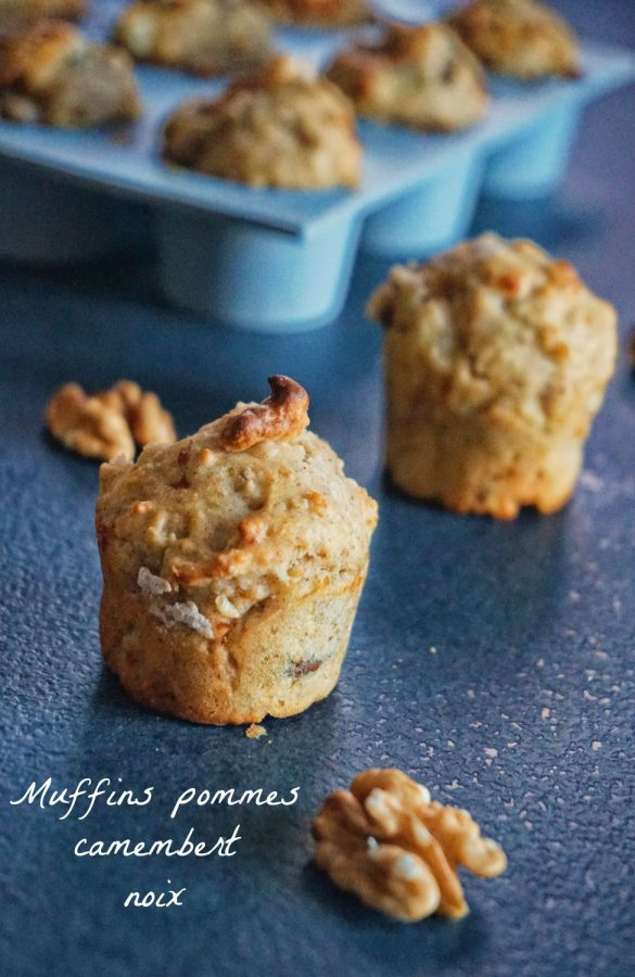 Muffins pomme camembert noix