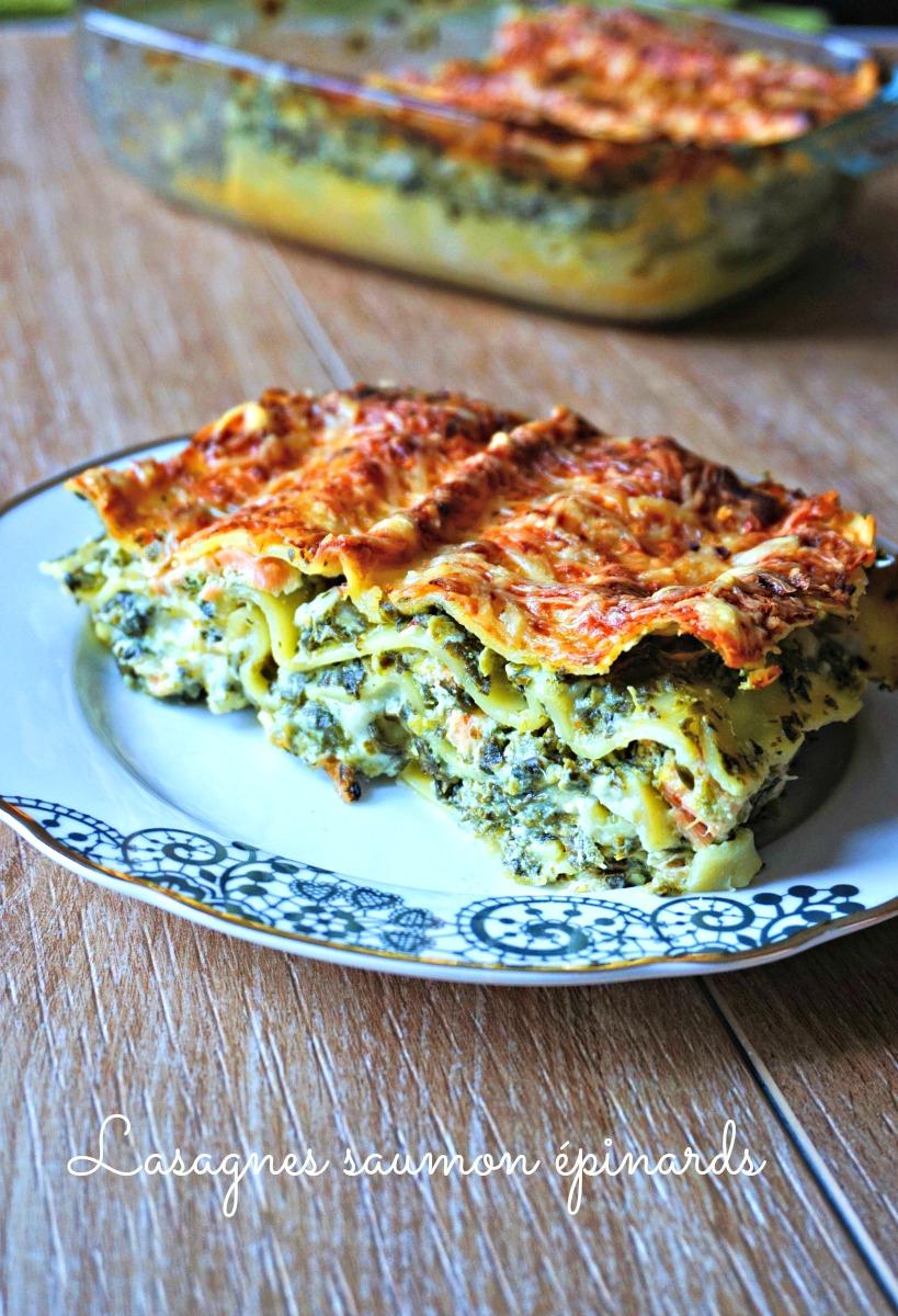 Lasagnes saumon épinards - Rappelle toi des mets