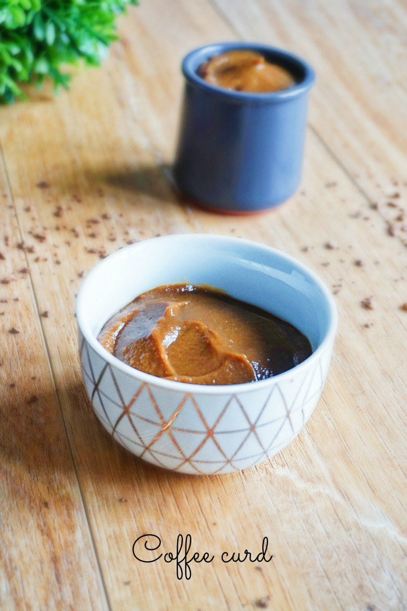 Coffee curd - Rappelle toi des mets