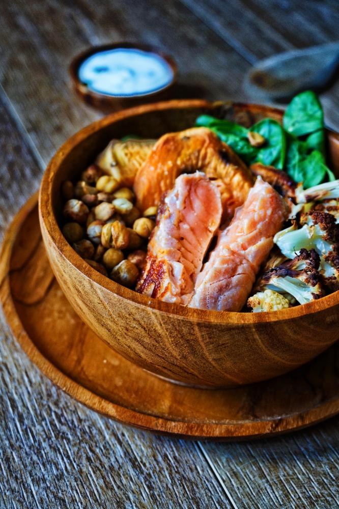 Bowl saumon patates douces IG bas