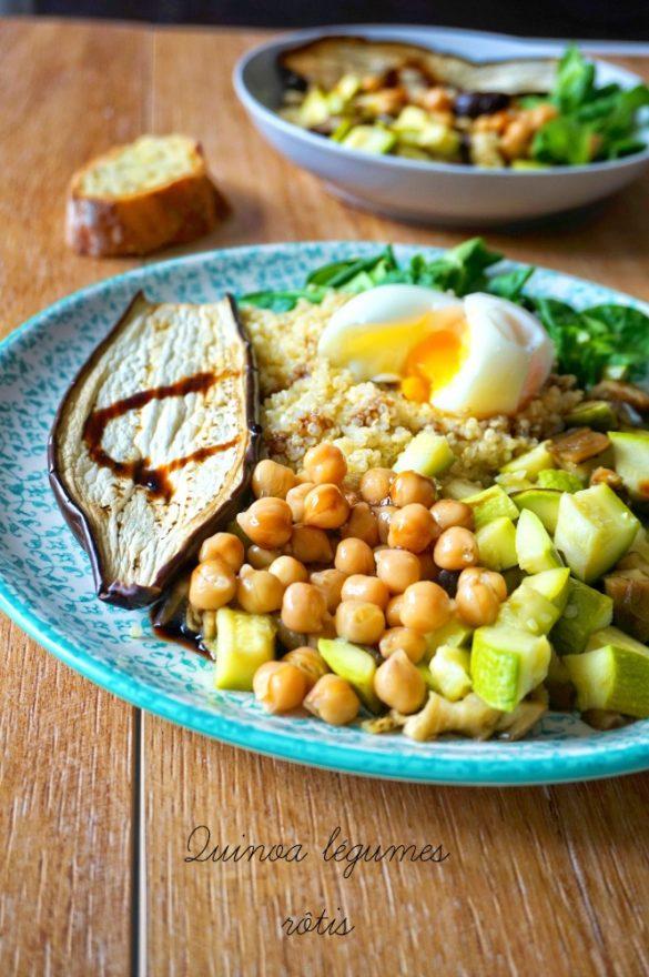 Salade de quinoa légumes rôtis
