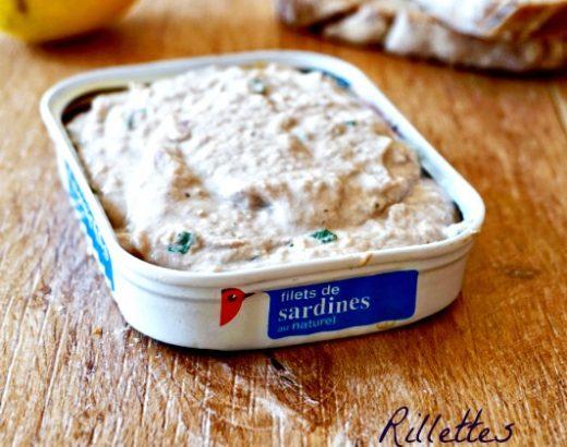 Rillettes de sardines - Rappelle toi des mets