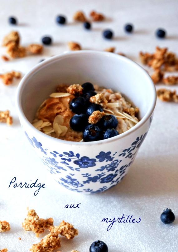 Porridge aux myrtilles - Rappelle toi des mets