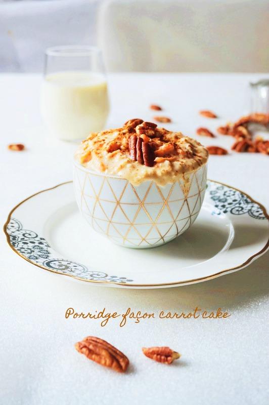 Porridge façon carrot cake