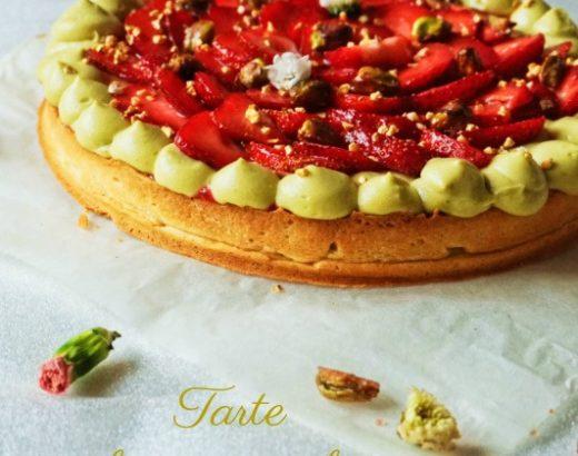 Tarte fraise pistache - Rappelle toi des mets