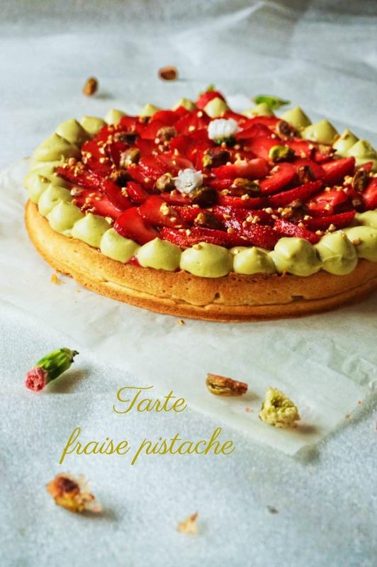 Tarte fraise pistache , coup de coeur!