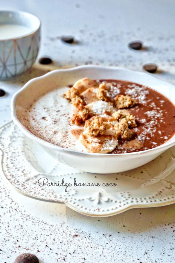 Porridge banane coco