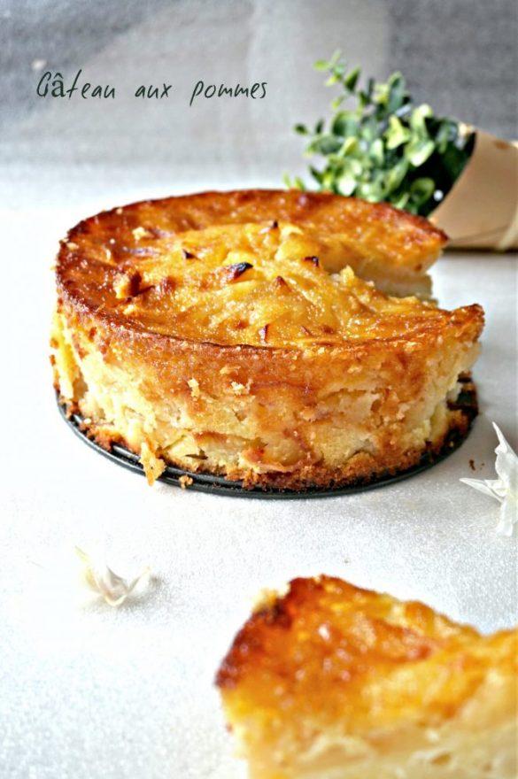 Gâteau aux pommes et sa croûte caramélisée