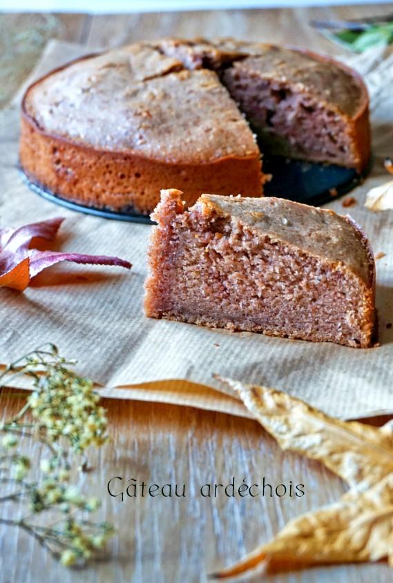 Gâteau ardéchois à la crème de marron