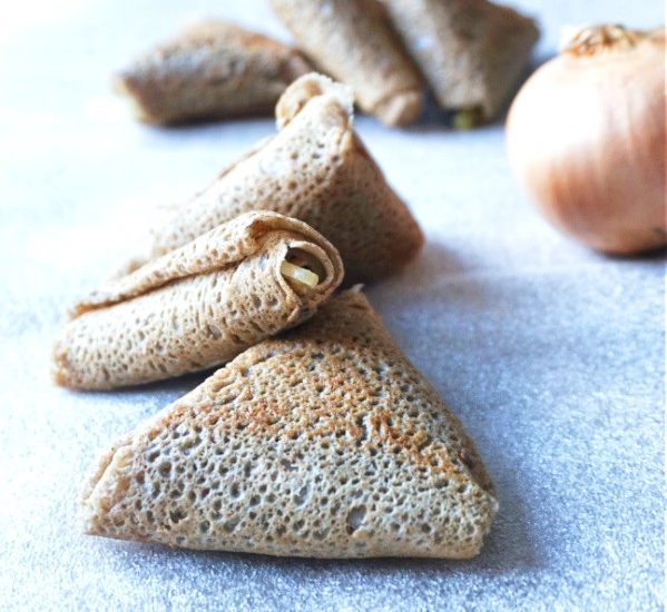 Samossas de crêpes à l'andouille de Guéméné