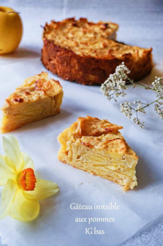 Gâteau invisible aux pommes IG bas - Rappelle toi des mets