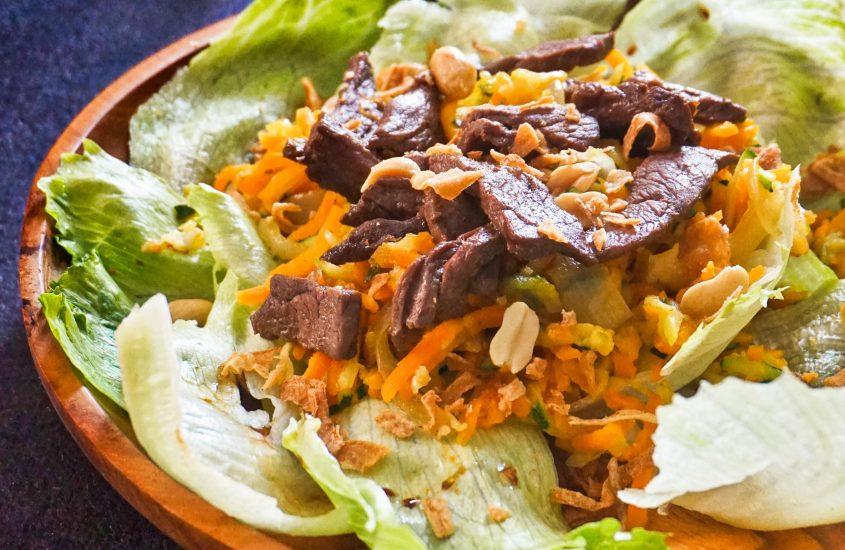 Salade asiatique au boeuf