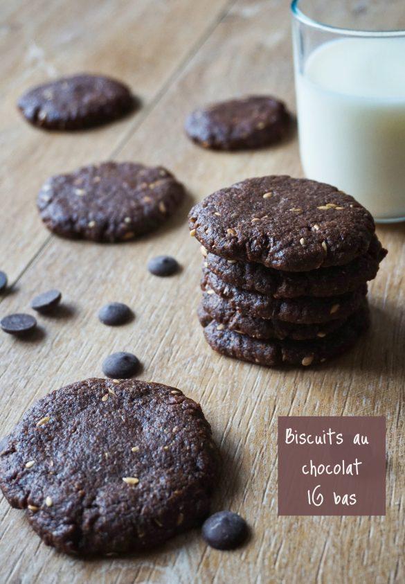 Biscuits au chocolat IG bas