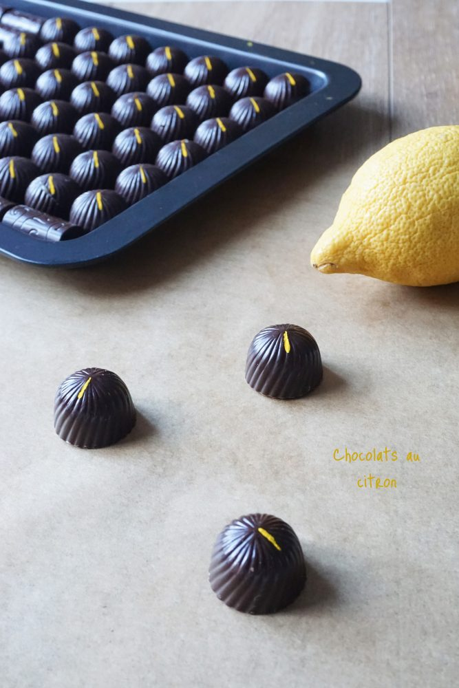 Chocolats au citron